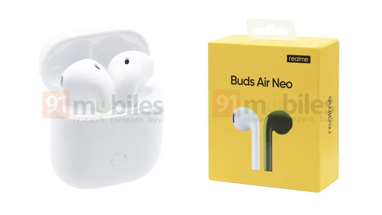Thiết kế và tính năng của rò rỉ Realme Buds Air Neo 2