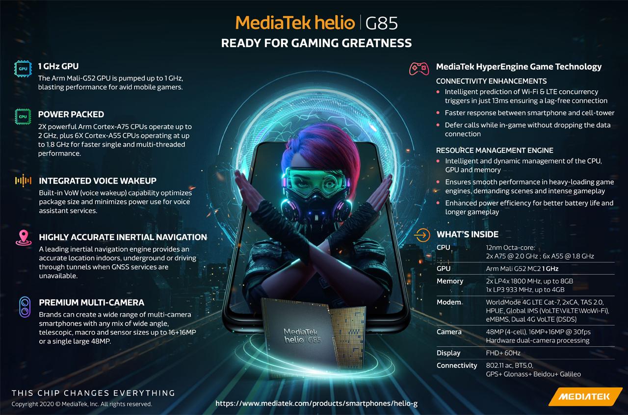Orta SoC mediaTek G85 əla performans vəd edir 1