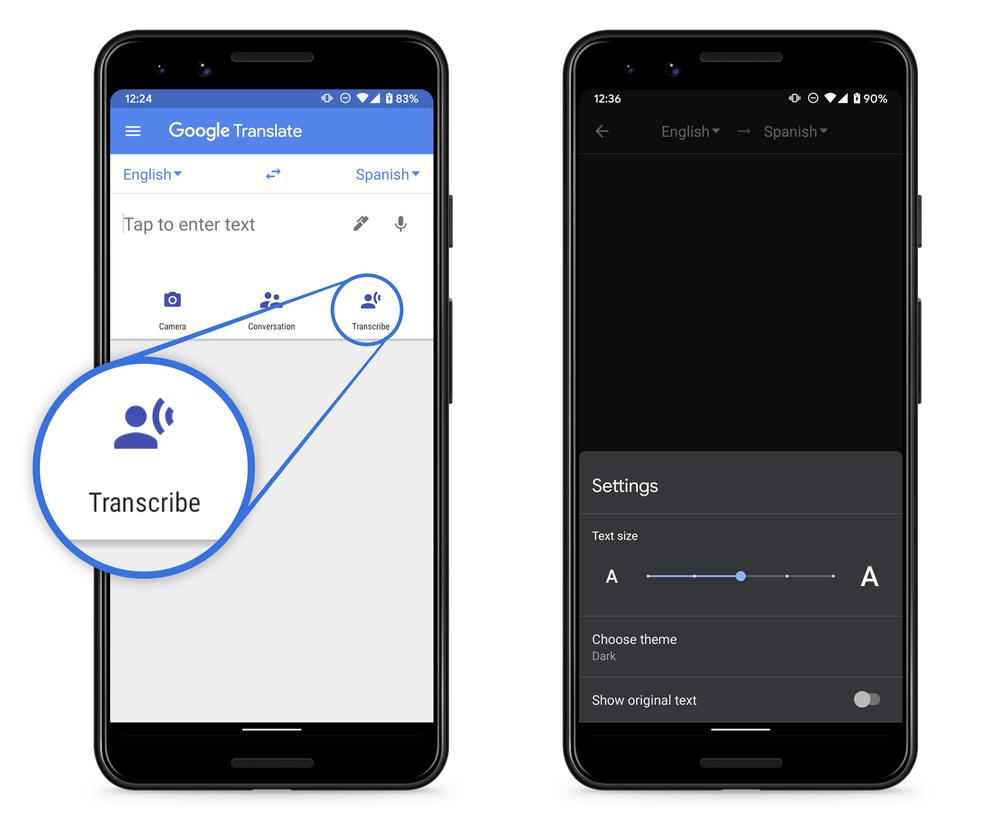 Google dịch: bản dịch mới trong thời gian thực 1