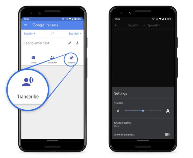 A transcrição em tempo real no Google Translate adiciona italiano, agora 9 disponível no idioma