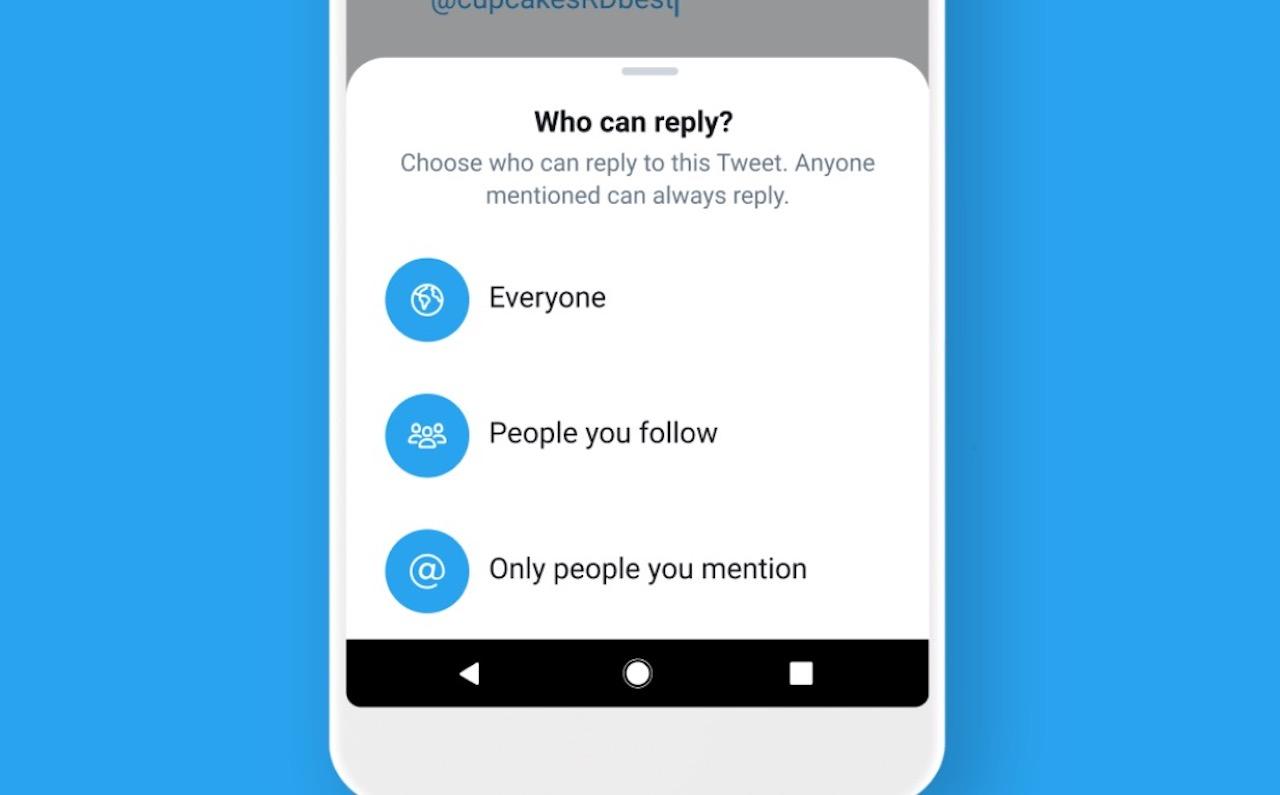 Twitter testata uusia keskusteluasetuksia vastausten hallitsemiseksi