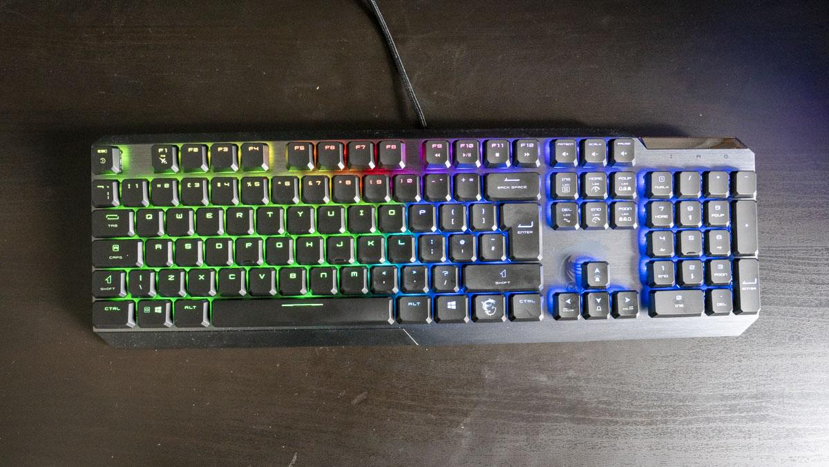 Đánh giá bàn phím chơi game thấp MSI Vigor GK50 2