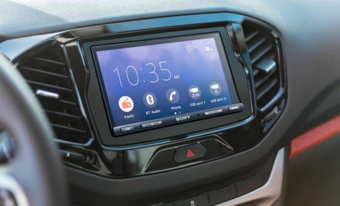 Thiết bị đứng đầu Android Auto mới nhất của Sony, 0, 95 inch 6 XAV-AX5500 với màn hình inch