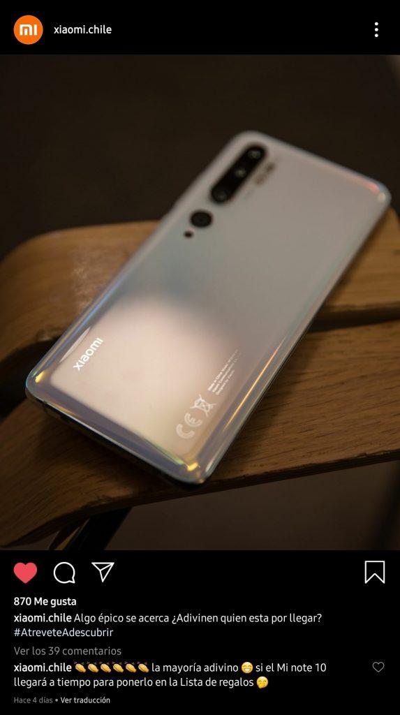 Xiaomi Chile, ngày 14 tháng 3