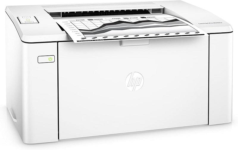 HP LaserJet Pro M102w, menu menu