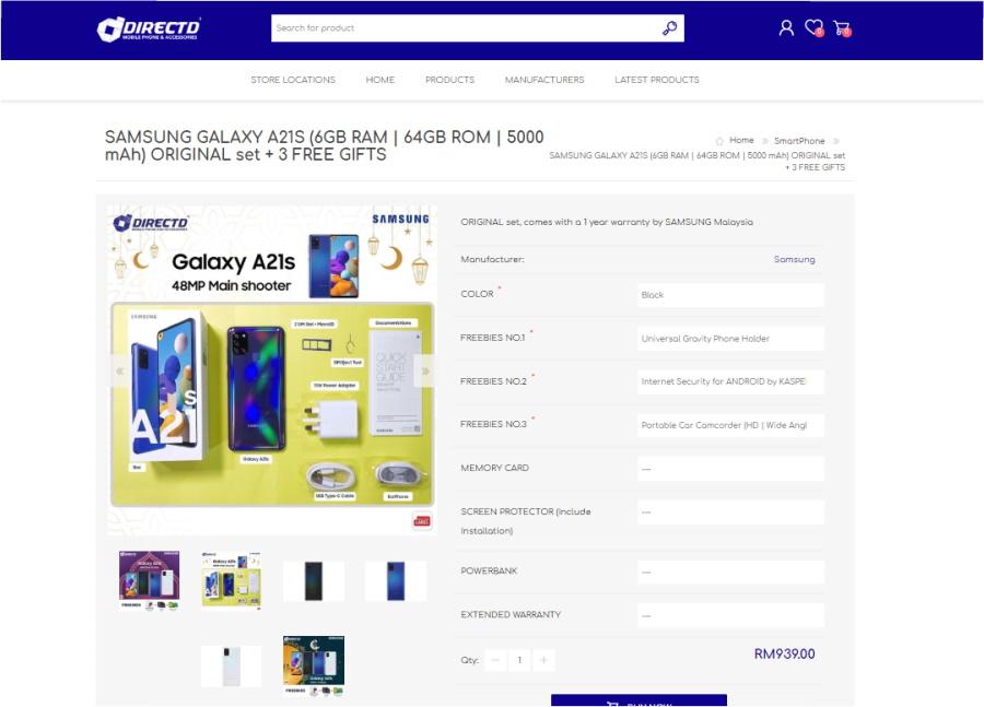 Samsung Galaxy A21 senyap-senyap masuk thứ hai đến Malaysia; Bersama Galaxy A11 1