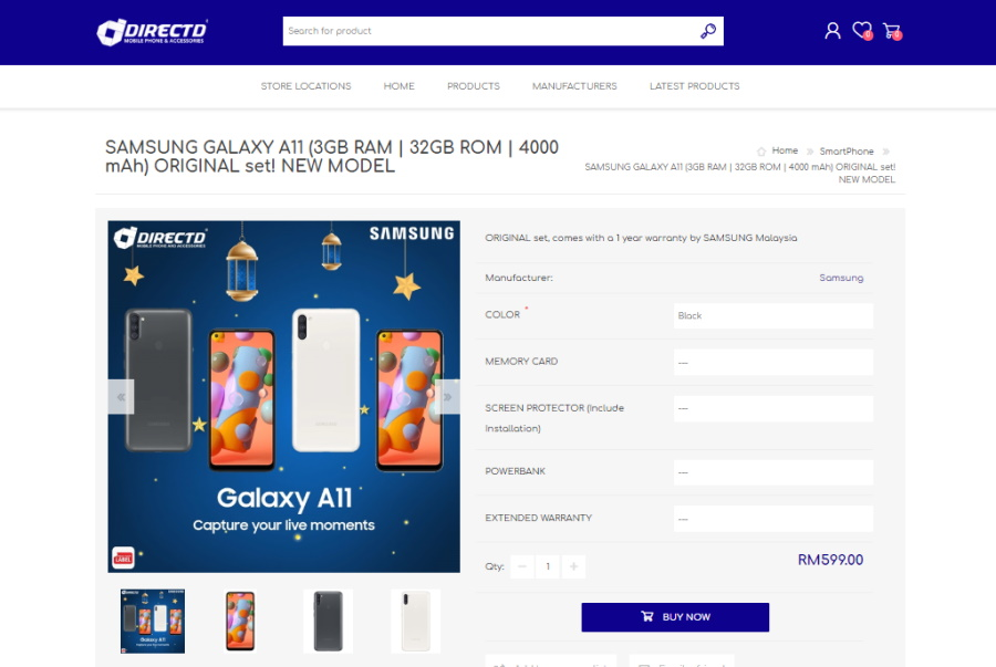 Samsung Galaxy A21 senyap-senyap masuk thứ hai đến Malaysia; Bersama Galaxy A11 2