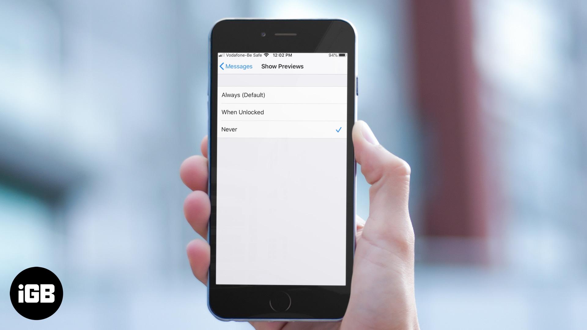 Kuinka poistaa viestin ja sähköpostin esikatselu käytöstä iPhonen lukitusnäytössä