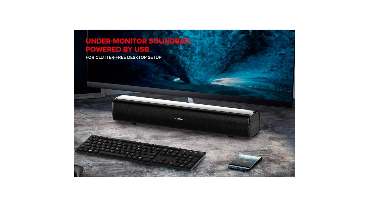 Creative Stage Air, bar suara untuk monitor anda