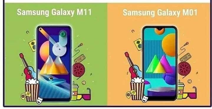 Samsung Galaxy M01 dan M11 Tahap kemasukan smartphones dilancarkan di India