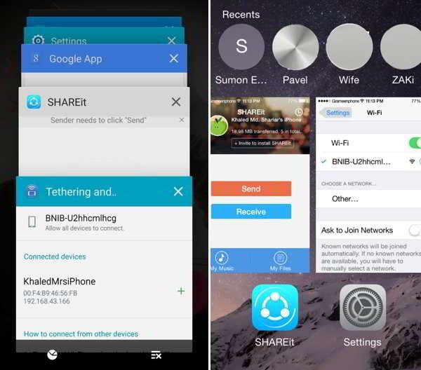 newid rhwng apiau ar android ac iOS
