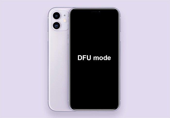 Mewnosod iPhone yn DFU