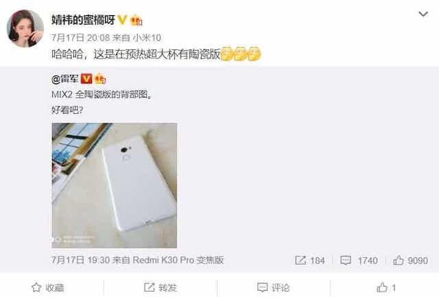 Xiaomi: a fydd brig yr ystod yn serameg? 2