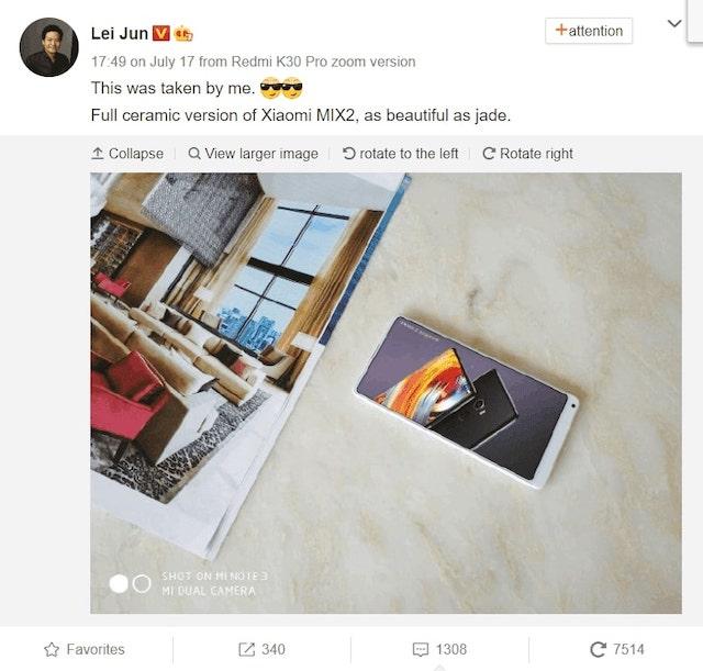 Xiaomi: a fydd brig yr ystod yn serameg? 3