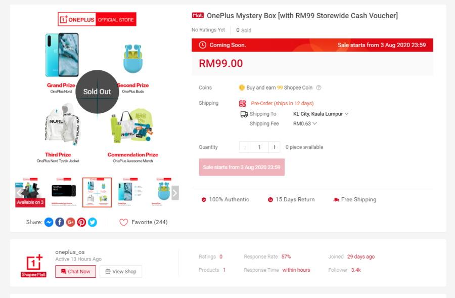 Bydd OnePlus Malaysia yn Lansio Blwch Dirgel Nord RM 99 4 Awst 1