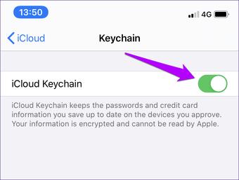 I Cloud Keychain nesynchronizuje opravu 10