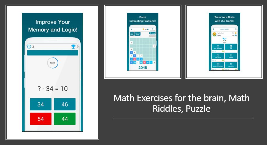 Matematické cvičenie pre mozog, Math Riddles, Puzzle