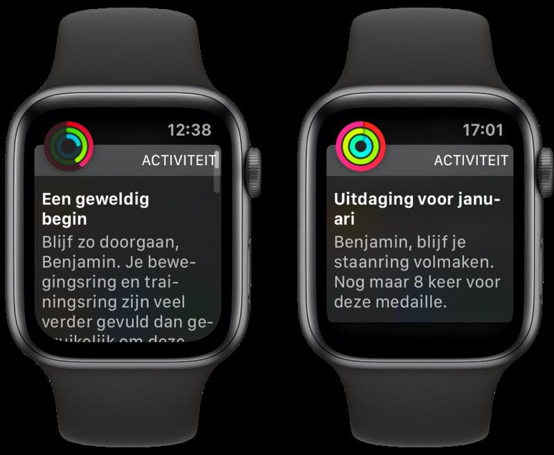 Apple Watch  oznámenie aktivity s pokrokom a povzbudením.