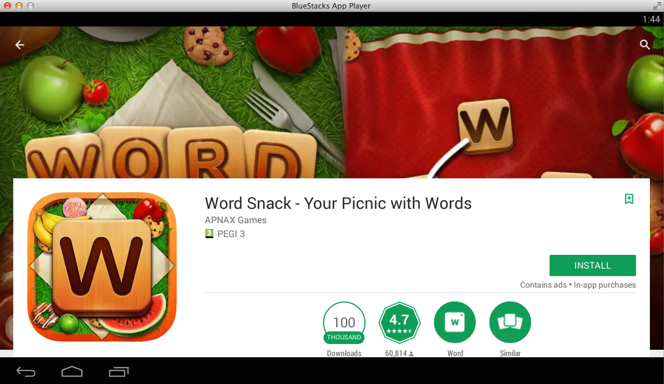 Stiahnite si Word Snack - Your Picnic with Words na PC 3