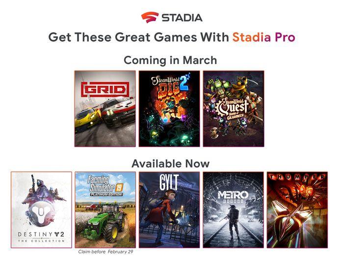 Získavanie predplatiteľov Stadia Pro 3 Ďalšie hry zadarmo v marci 1 3