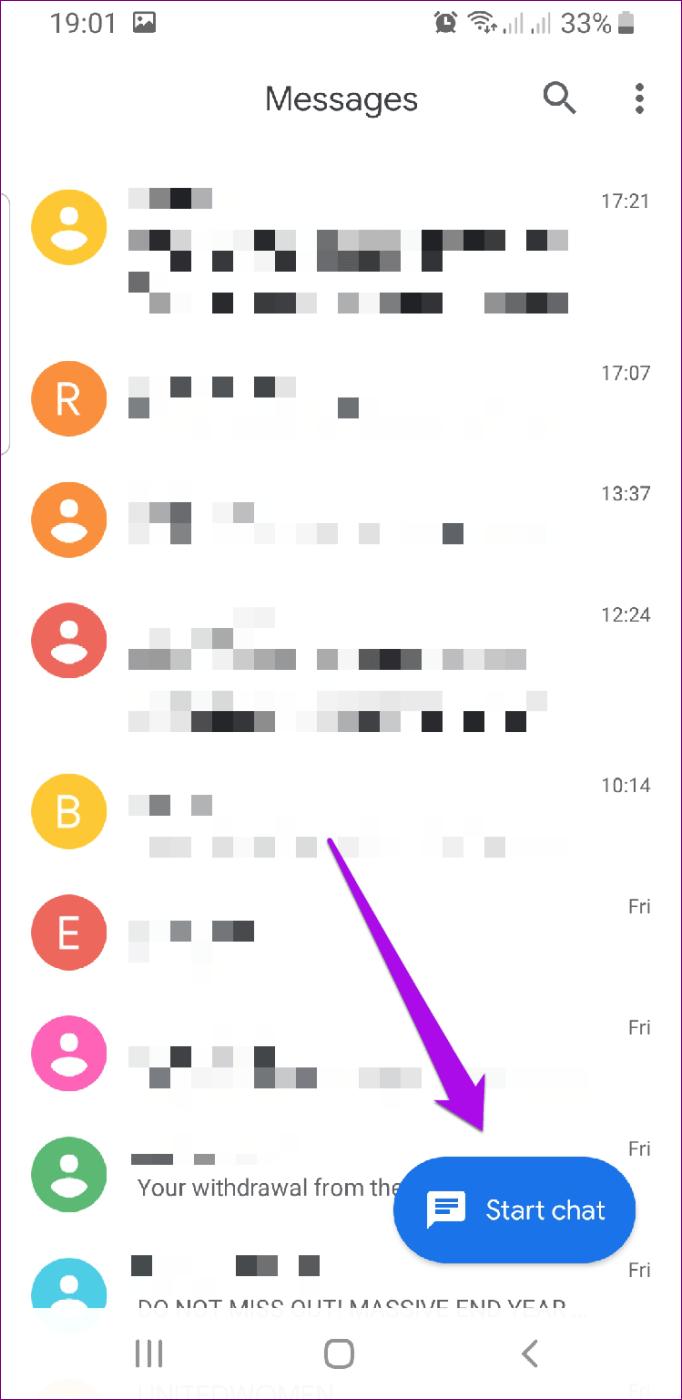 Android Rcs Správy Začať chat