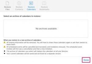 Tipy: Ako obnoviť stratené kalendáre a pripomienky prostredníctvom iCloud 5