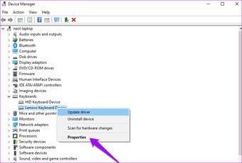 Oprava lepivých kláves nefunguje Windows 10 7