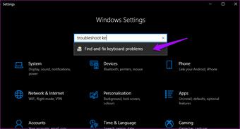 Oprava lepivých kláves nefunguje Windows 10 8