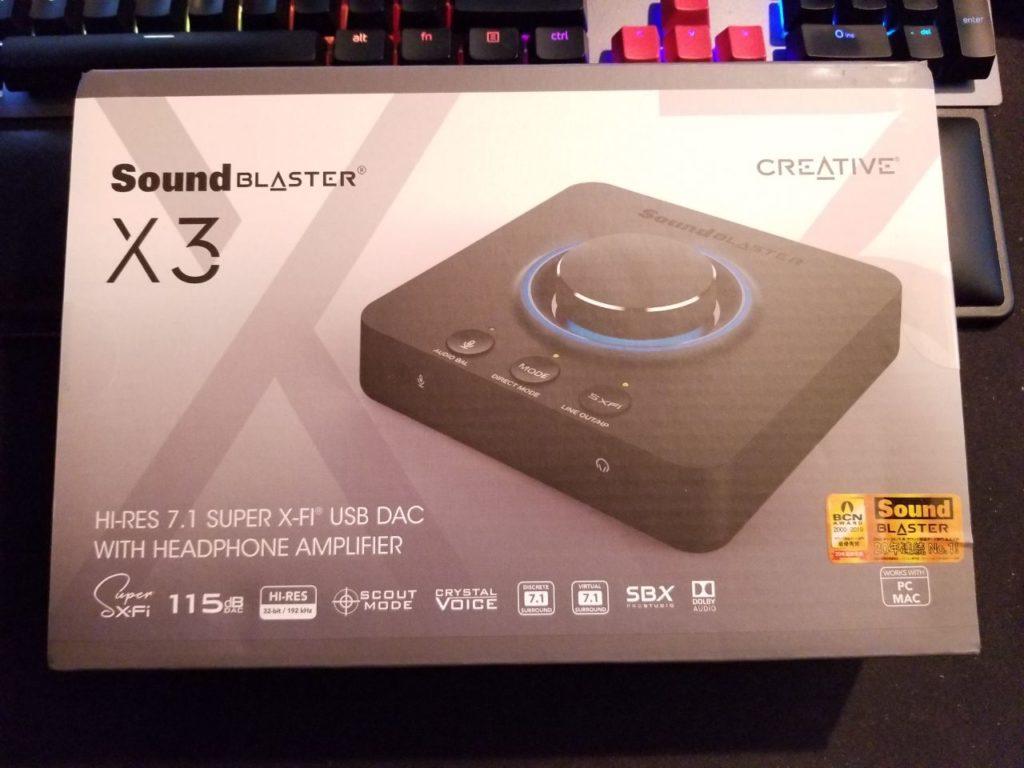 Sound Blaster X3 - Hi-Res 7,1 Super X-Fi USB DAC s náhlavným zosilňovačom Recenzie 2