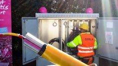 Technik spoločnosti Deutsche Telekom v distribučnej skrinke