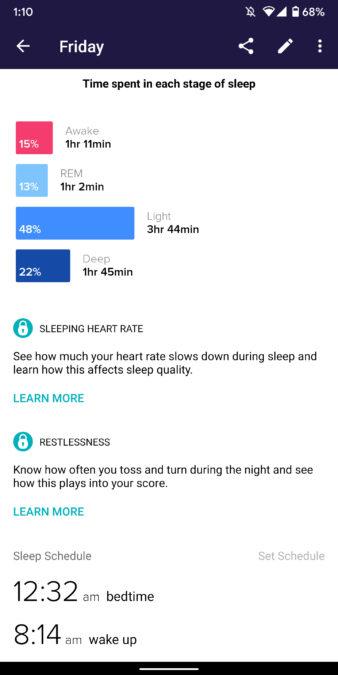 fit versa 2 skontrolujte stav spánku pri sledovaní spánku vo vhodnej aplikácii 4