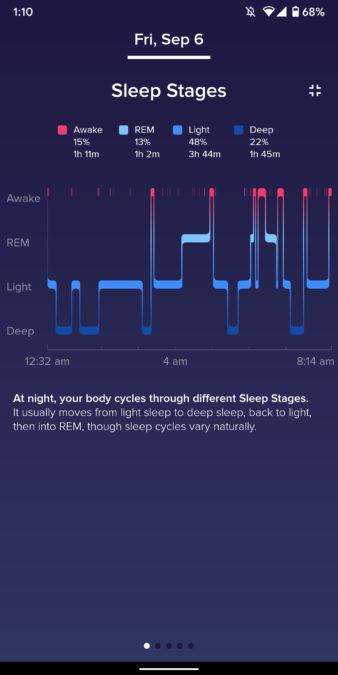 fit versa 2 skontrolujte stav spánku pri sledovaní spánku vo vhodnej aplikácii 1