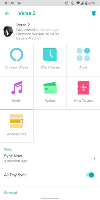 fit versa 2 skontrolujte snímky obrazovky vhodnej aplikácie 5