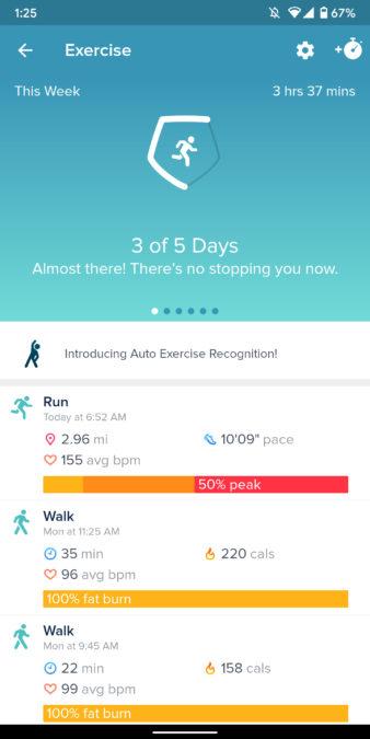 fit versa 2 skontrolovať snímky obrazovky aplikácie Fitbit 10