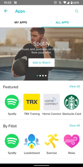 fit versa 2 skontrolujte snímky obrazovky vhodnej aplikácie 8