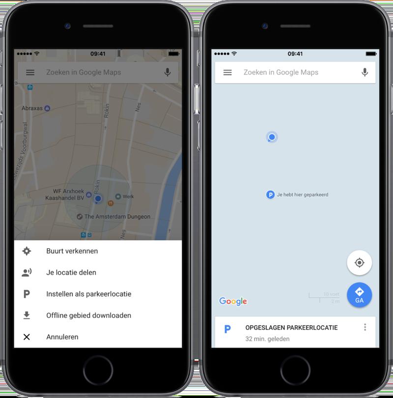 Parkovacie miesto v Mapách Google ručne uložte.
