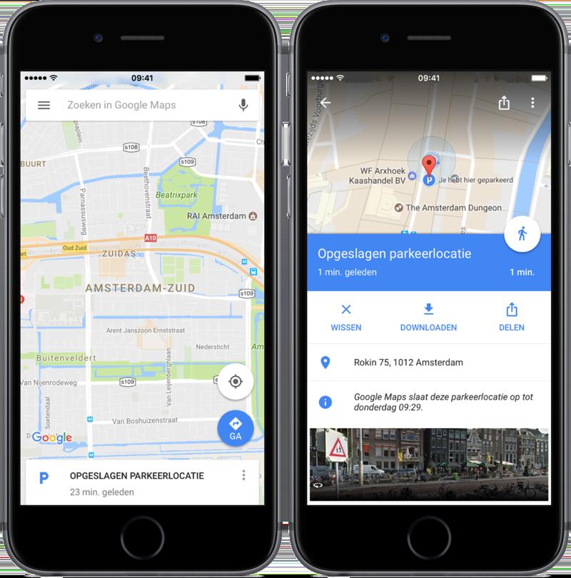 Zobraziť parkovacie miesto služby Mapy Google.