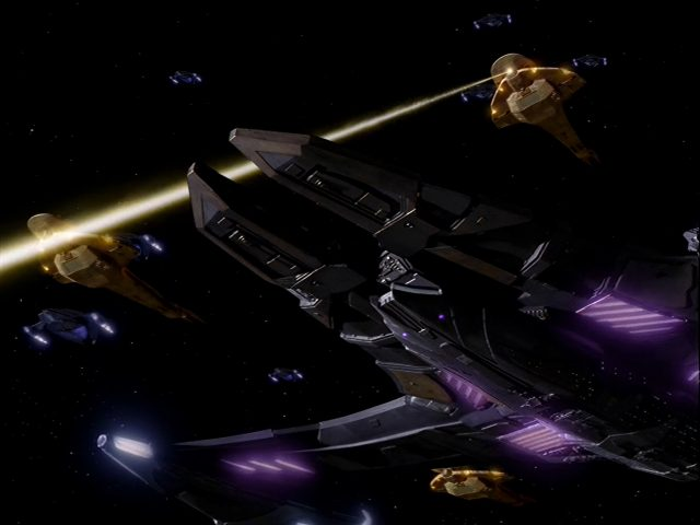 Upscaling Star Trek: Deep Space Deväť pomocou AI Topaz Video Enhance 15