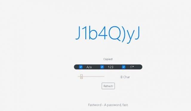 FastWord, najjednoduchší spôsob, ako získať silné heslo 1
