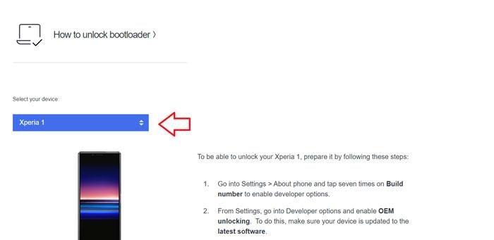 Sony Xperia 1 II Odomknite zavádzač