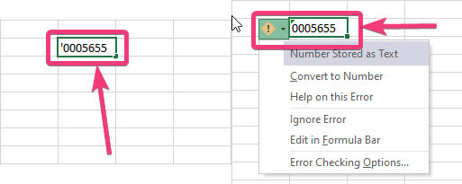 Program Microsoft Excel považuje údaje v tejto bunke za text