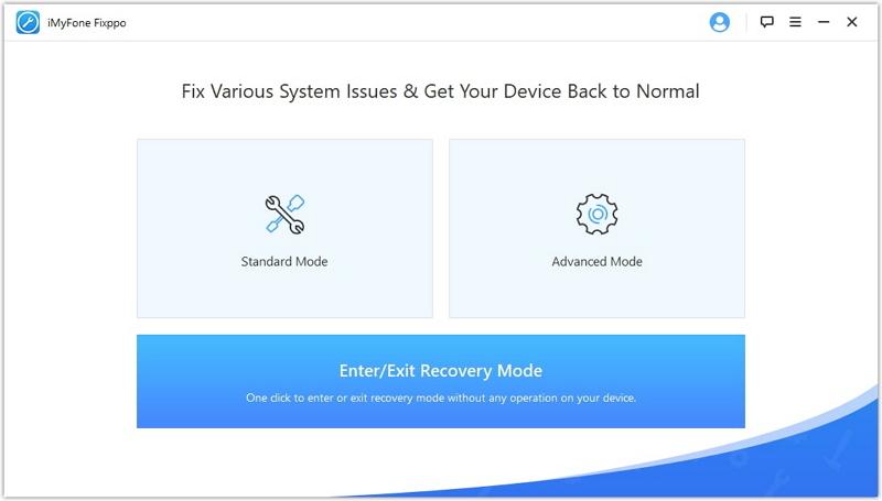 Výukový program pre iMyFone Fixxpo