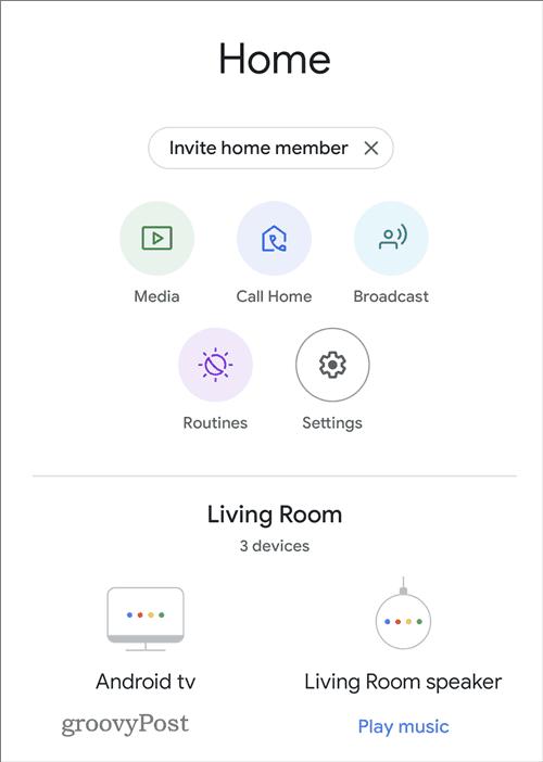 Zvukový ekvalizér Google Home