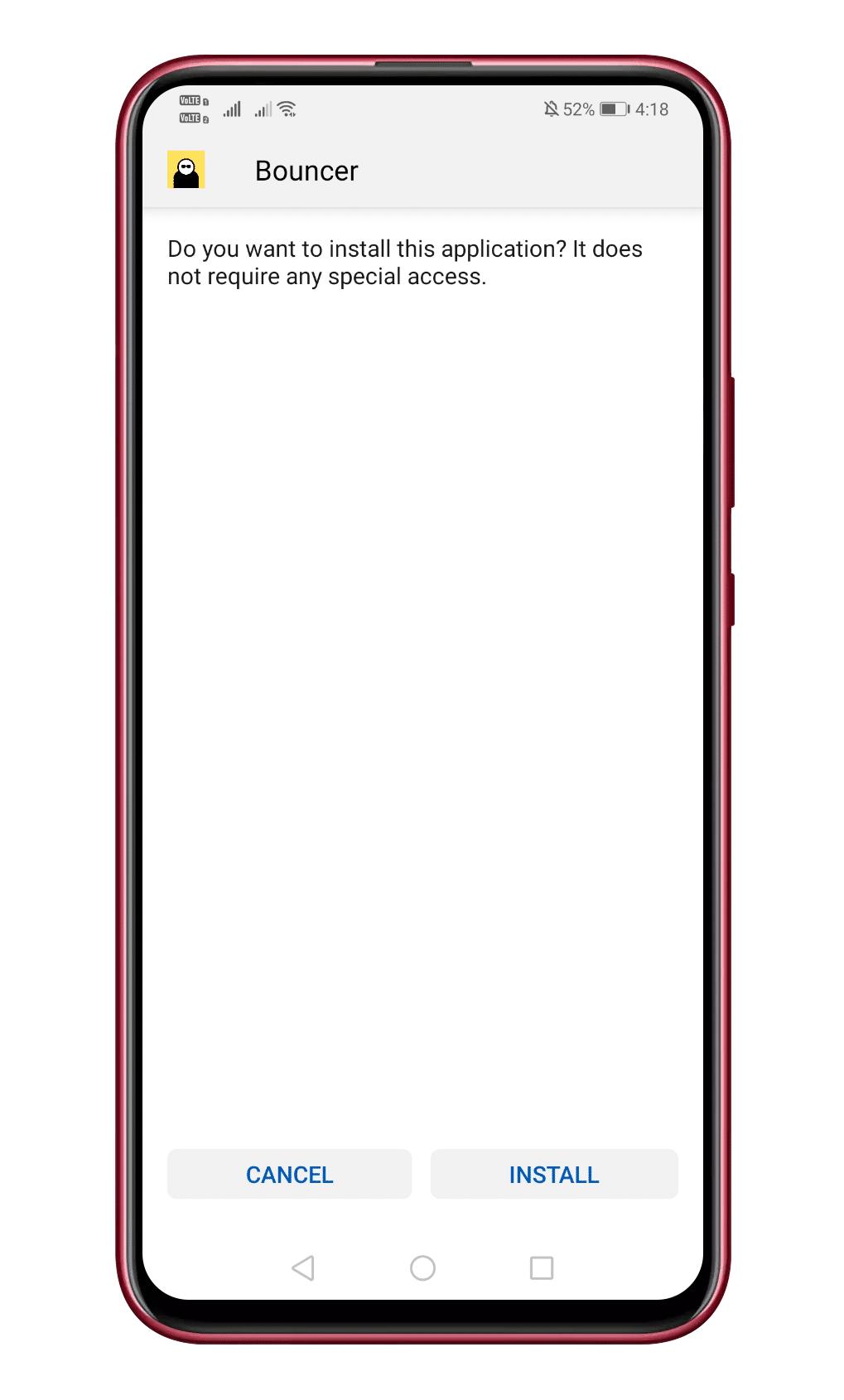 Nainštalujte program Bouncer do svojho systému Android