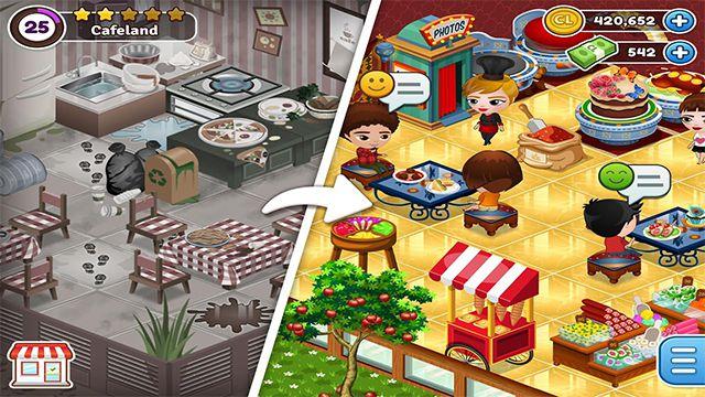 Stiahnite si najnovšiu verziu Cafeland - World Kitchen Mod Apk pre Android