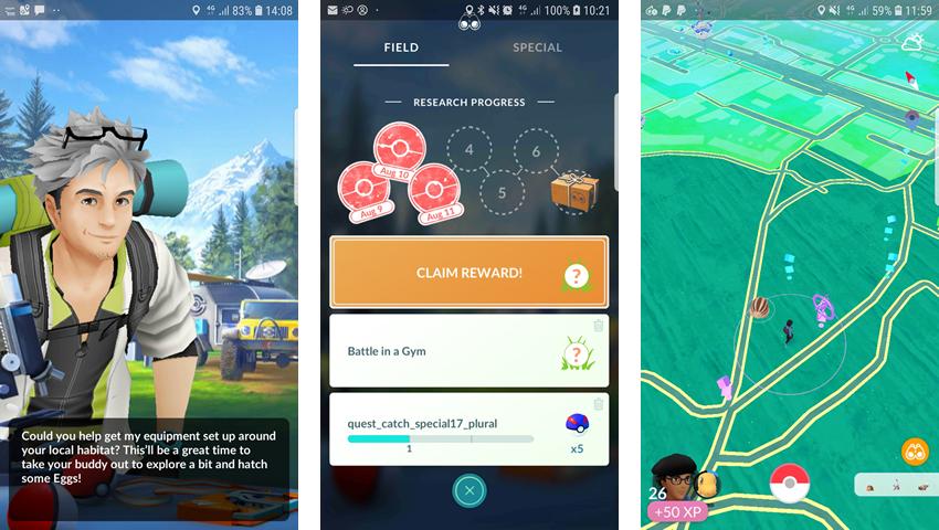 Pokemon Úlohy Go Field Research: Zoznam marcových misií a odmien 2