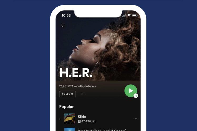 Redizajn Spotify iOS dodáva jednoduché prehrávanie v náhodnom poradí a ďalšie 1