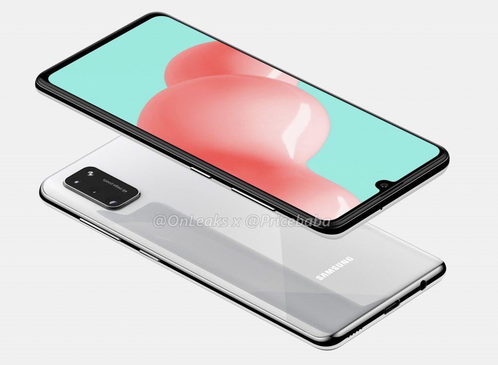 Samsung Galaxy A41 sa predviedla v sérii takmer oficiálnych omietok 1