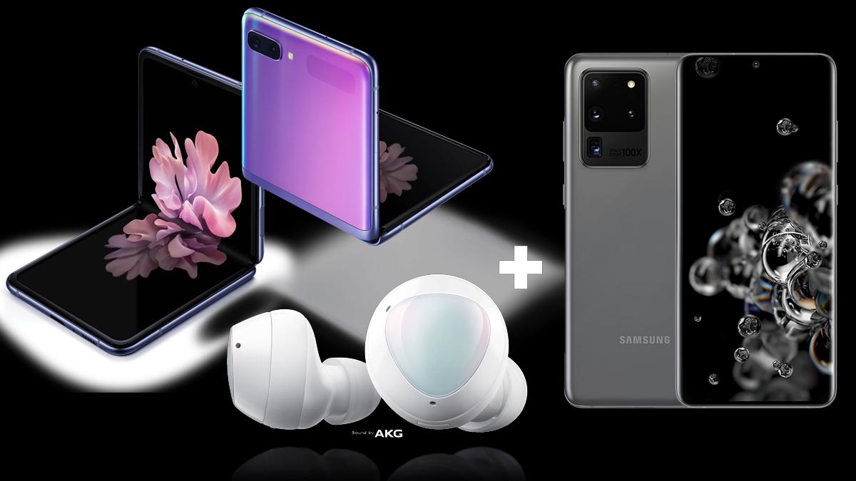Samsung Galaxy Rozbalené do roku 2020: Z Flip, séria S20, Galaxy Spustené Buds + 1
