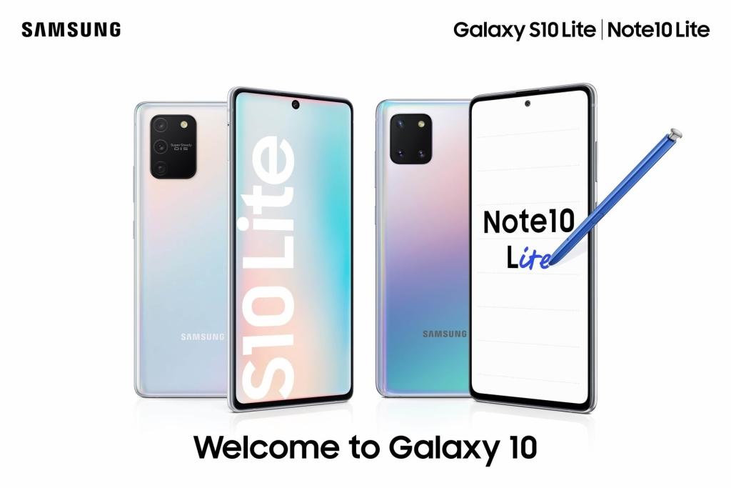 nový Galaxy Note  10 Lite a S10 Lite dorazí dnes do Brazílie